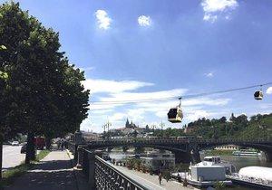 Takto by mohla vypadat lanovka ze Starého Města na Letnou.