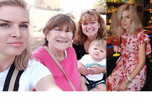 Čtyři generace, jeden nos! Nikol Štíbrová má po rozchodu oporu v rodině.