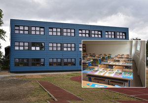 V Uhříněvsi přistavili k základní škole novou budovu. Oplývá novotou a modernou.