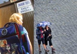 Začátek školy bude deštivý (ilustrační foto)