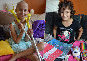 Po měsících upoutaných na lůžku kvůli rakovně kosti je Lenička zdravá a opět nastoupila do školy.