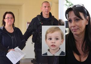 Renata Figurová strávila soudní přelíčení v poutech. Kde je její syn Tomáš, neprozradila.
