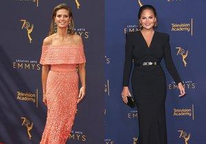 Heidi Klum a Chrissy Teigen na předávání cen Emmy