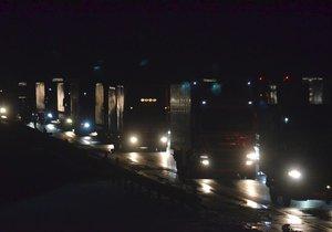 Dálnici D1 uzavřela hromadná nehoda: Na místo museli vyjet záchranáři. (Ilustrační foto)