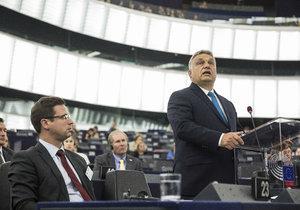 Maďarský premiér Viktor Orbán byl kvůli možnému uvalení sankcí před Evropským parlamentem na slyšení (11.9. 2018).