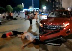 Řidič SUV najel v Číně do lidí a nejméně devět jich zabil. (12. 9. 2018)