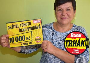 1. výherce Trháku Blesku 2018 Věra Matoušková (58) z Plzně: Pomohl mi horoskop!