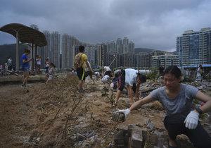 Tajfun Mangkhut přinesl do Číny silné deště.