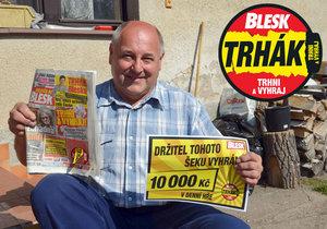 Petr Carda (59) z Kolína je dalším výhercem v Trháku!