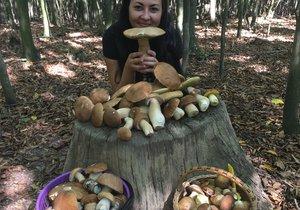 Takovouto úrodu našla v lese u Kyjova Zuzana Bořecká (26).