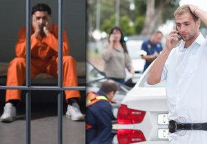 Jakmile jsou u nehody vážně zranění, jde do tuhého. Řidiči může hrozit i pobyt za mřížemi.
