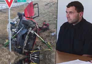 Krajský soud v Brně poslal Jakuba (24) na 6 let do vězení za loňskou tragickou dopravní nehodu, při které zemřel spolujezdec, další dva utrpěli těžká zranění.
