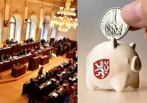 Sněmovní opozice kritizuje rozpočet menšinového kabinetu: Nezodpovědnost a rozdávání dárků.
