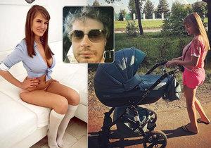 Po zavražděné pornoherečce Olze zůstal malý synek.
