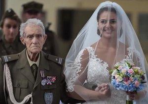Veterán druhé světové války doprovodil svou vnučku k oltáři. Dva dny na to zemřel