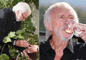 Pierre Richard v rámci návštěvy Prahy zasadil v botanické zahradě vinnou révu.