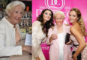 Olga Knoblochová (85) byla u vynálezu make-upu, který dobyl Hollywood.