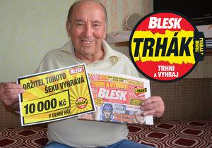 Za výhru v Trháku do světa. Antonín Hyka (74) »utrhl« ve hře Blesku 10 000 Kč