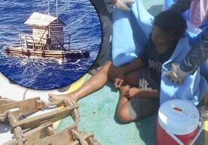 Teenager strávil 49 dní na moři, zachránila ho posádka panamské lodi.