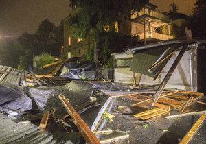 Bouře Fabienne způsobila problémy také v Německu (24. 9. 2018)