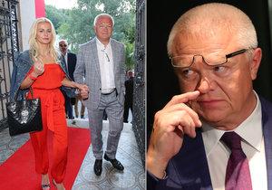 Jaroslav Faltýnek popírá vnitřní rozpory v ANO. Vlevo s přítelkyní a svou oporou Martinou.