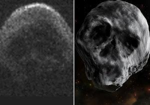 K Zemi se blíží asteroid, který má tvar lebky