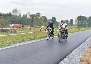 Nová cyklostezka z Koterova do Starého Plzence.