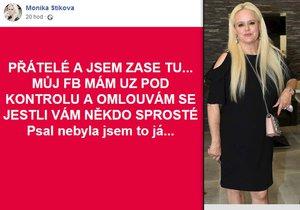 Monice Štikové ukradli identitu: Jejím jménem psali sprosťárny!