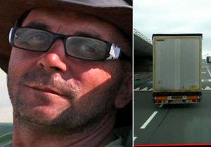 Řidič kamionu Jiří byl za pašování migrantů odsouzen na 1,5 roku vězení.