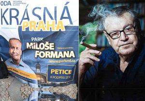 Místo Výstaviště park Miloše Formana? Lídr ODA brojí za přejmenování, synové režiséra chtějí tučnou kompenzaci