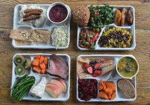 Srovnání školních obědů z několika zemí světa