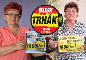Výherkyně Trháku paní Soňa (vlevo) a paní Renata (vpravo)