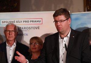 Pokud bude Jiří Pospíšil (TOP 09) v radě hlavního města, vzdá se podle svých slov mandátu europoslance.