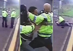 Násilník chtěl strčit policistu do vozovky