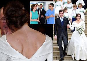 Británie žila královskou svatbou princezny Eugenie: Nevěsta hrdě ukázala jizvu