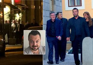 Smuteční hosté se po pohřbu Jana Kočky přesunuli do luxusní asijské restaurace.