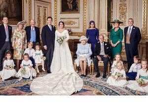 Oficiální snímky ze svatby princezny Eugenie. Její rodiče se 26 let po rozvodu poprvé setkali.