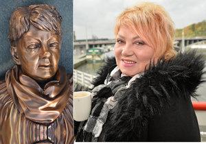 V Ostravě odhalili sochu Špinarové (†65): To má být ona? Proč si není podobná?