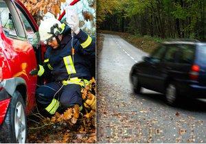 Jízda na podzimních silnicích je někdy pořádný adrenalin.
