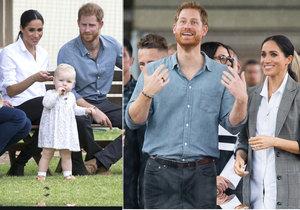 Vévodkyně Meghan s princem Harrym se rozplývali nad holčičkou.