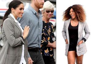 Meghan oblékla sako od slavné tenistky Sereny Williams