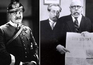 Rekordman mezi prvorepublikovými herci Theodor Pištěk (†65): Upracoval se k smrti