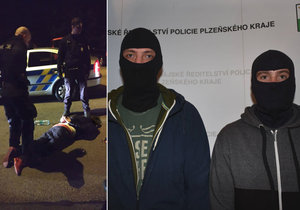 Policisté z obvodního oddělení v Plzni na Borech, kteří střelce dopadli.