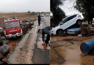 Bleskové povodně zasáhly jih Španělska.