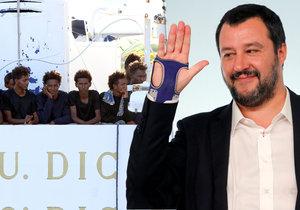 Italský ministr vnitra Matteo Salvini byl zbaven obvinění ze zadržování migrantů na lodi Diciotti.