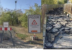 Začala generální oprava zubožené lávky mezi Zličínem a Řepy: 30 let se na ni nesáhlo