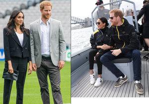 Těhotná vévodkyně Meghan opět porušuje pravidla! Poprvé obula boty bez podpatku.