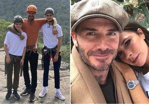 Rodinná idylka podle Beckhamových?