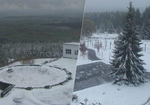 Na 28. října napadl sníh