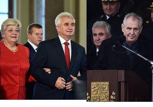 Předseda Senátu Milan Štěch (ČSSD) během oslav 100 let vzniku ČSR. Proč mu Zeman při armádní přehlídce nepodal ruku?